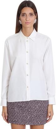 Alessandra Rich Shirt In White Silk