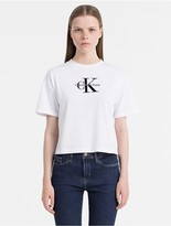 Calvin Klein Jeans Cropped Monogram Logo T-Shirt