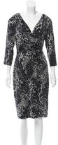 David Meister Ruched Leopard Print Dress w/ Tags
