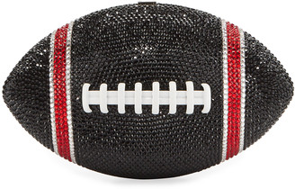 Judith Leiber Couture Game Ball Football Crystal Clutch Bag, Black/Red