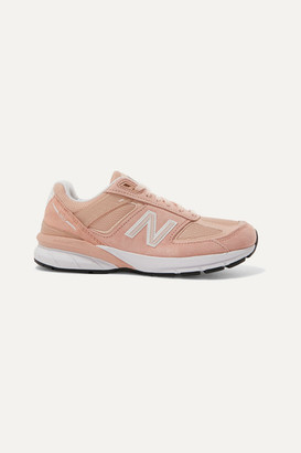 New Balance 990 Suede, Mesh And Leather Sneakers - Baby pink