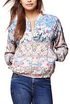 Yumi Floral Bomber Jacket, Soft Pink