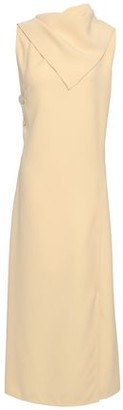 Joseph Ceil Strap-detailed Draped Crepe Midi Dress