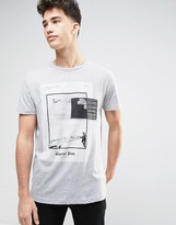 Pull&bear T-shirt With Capitol Print In Grey