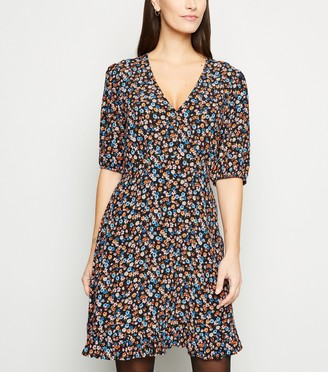 New Look Ditsy Floral Empire Waist Dress