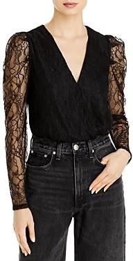 WAYF Shirley Lace Sleeve Bodysuit