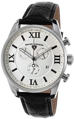 Swiss Legend Men's Analogue Quartz Watch with Leather Strap SL-22011-02S-BLK
