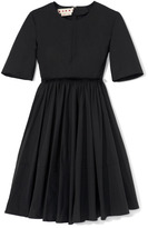 Marni Pleated Front Cotton Dress