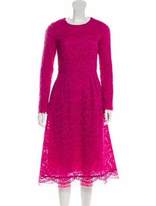 Adam Lippes Lace Midi Dress Magenta