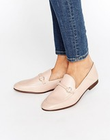 Hudson London Arianna Blush Leather Loafers
