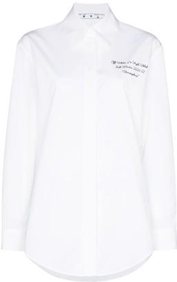 Off-White Slogan-Print Buttoned Shirt