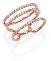 Meira T Diamond & 14K Rose Gold Triple Band Ring