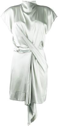 Nina Ricci Asymmetric Wrap Mini Dress