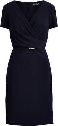 Ralph Lauren Surplice Matte Jersey Dress