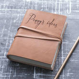 STUDY The Rustic Dish Personalised Leather Journal Or Notebook