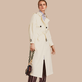 Burberry Oversize Silk Trench Coat with Puff Sleeves
