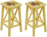 Margaritaville Outdoor Parrot Bar Stools in Yellow (Set of 2)