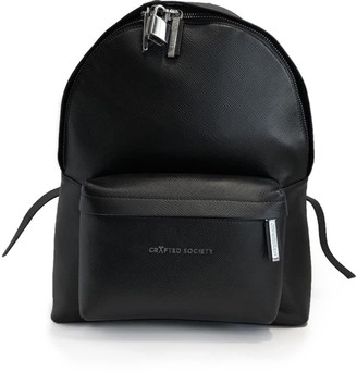 Crafted Society Skye Backpack Small - Black Saffiano Leather