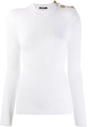 Balmain Ribbed Knitted Top
