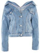Topshop Moto off shoulder denim jacket