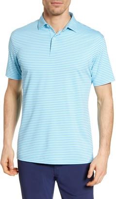 Peter Millar Miles Stripe Short Sleeve Stretch Jersey Polo