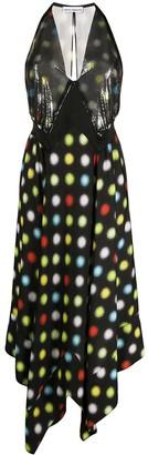 Paco Rabanne Sequin Panel Polka Dot Dress