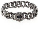 Marc by Marc Jacobs Womens Katie Brass Turnlock Bracelet Gray O/S