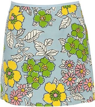 Tory Burch Wallpaper Floral Mini Skirt