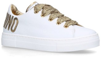 Moschino Kids Metallic Logo Counter Sneakers