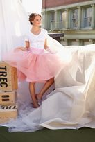 Shabby Apple Spring Street Tulle Midi Skirt Pink