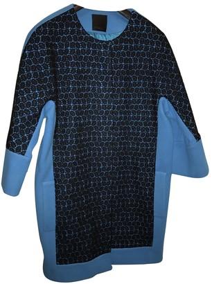 Pinko Turquoise Wool Coat for Women