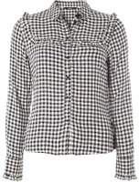 Dorothy Perkins Womens **Only Monochrome Gingham Checked Shirt- Black