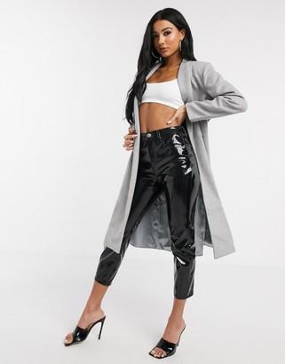 UNIQUE21 wrap coat in grey