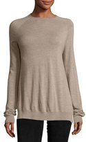 The Row Heba Wool-Cashmere Raglan Top
