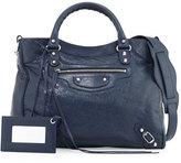Balenciaga Classic Velo Lambskin Tote Bag, Blue