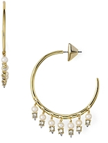 Alexis Bittar Lace Chandelier Hoop Earrings
