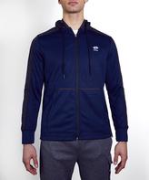 Lotto Navy FZ Textured Fleece Hooded Jacket - Men's Regular