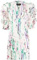 Isabel Marant scribble print bodycon dress