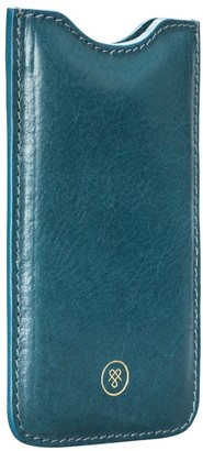 Maxwell Scott Bags Petrol Full Grain Leather Iphone 6 Phone Sleeve