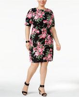 Karen Scott Plus Size Floral-Print Dress, Only at Macy's