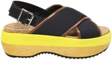 Marni Sandal In Technical Fabric Color Black