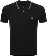 Pretty Green Barton Tipped Polo T Shirt Black
