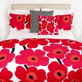 Marimekko Unikko Duvet Cover - Red/White - Double