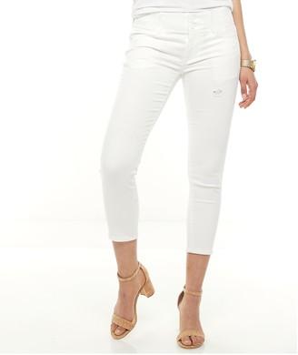 Apt. 9 Petite Tummy Control Cuffed Ankle Jeans