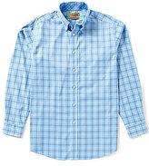 Roundtree & Yorke Gold Label Non-Iron Long-Sleeve Large Plaid Sportshirt