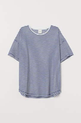 H&M Wide-cut T-shirt - Blue