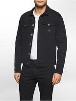 Calvin Klein Dark Coated Button Front Jacket