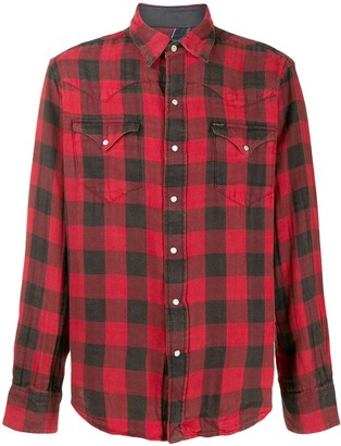 Polo Ralph Lauren western plaid print shirt