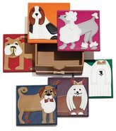 Kim Seybert Pleather Pups Coasters, 6-Piece Set