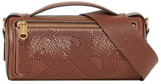Burberry Leather Perforated Barrel Cross-Body Bag
